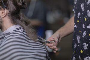 Barber kreslo z kože